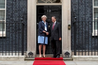10 Downing Street welcomes Nicos Anastasiades, President of Cyprus for bilateral talks.  The Prime Minister Theresa May met Mr Anastasiades outside the Number 10 door, before showing him upstairs to the state rooms.  Mr Anastasiades has been President of Cyprus since 2013. Previously, he was the leader of Democratic Rally and a Member of Parliament for Limassol.