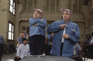 Troyer is Mini-Me, a clone to Mike Myers' Dr. Evil in the Austin Powers film: Austin Powers in Goldmember.