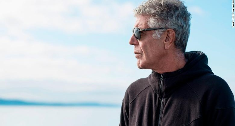 July 27, 2017: Anthony Bourdain on the ferry to Vashon Island while filming Parts Unknown in Seattle, Washington on July 27, 2017. (photo by David Scott Holloway)