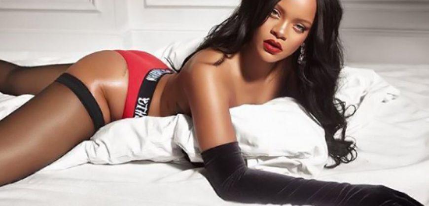 half naked rihanna promotes her lingerie brand photos