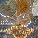 The frescoes of Hagia Sophia will be concealed with special technology and lighting, according to the Turkish newspaper Hurriyet, after the decision t
