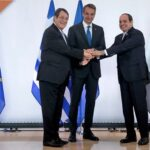 Image Kyriakos Mitsotakis, Abdel Fattah Al Sisi, and Nicos Anastasiades to sign joint declaration (watch live)